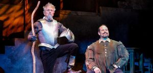 Michael McKenzie as Don Quixote and Mark Kirschenbaum as Sancho Panza. (Photo by Jacek Photo)
