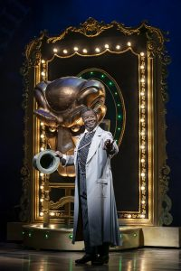 Tony Award winner Clevant Derricks as The Wizard of Oz. (Photo by Joan Marcus)