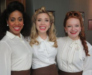 "The ladies of ""Higgins"" (l-r): Kathleen Moore, Chloe Vallot and Haley Bowden. (Photo by Alan Smason)"