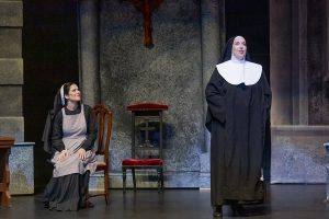 Sarah Jane McMahon as Maria, left, and Kathleen Halm as The Mother Abbess (Photo by Joshua Frederick)