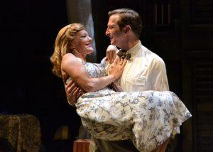 "Harold ""Mitch"" Mitchell (Brad Makarowski) and Blanche DuBois (Kathy McCafferty) share a moment. (Photo by Samantha Mighdoll)"
