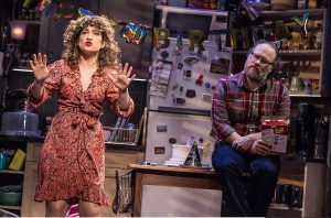 Sarah Stiles as Sandy Lester with Andy Grotelueschen as Jeff Slater. (Photo by Matthew Murphy)