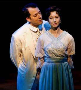 John Tartaglia as Harold Hill with Julie Kleiner as Marian Paroo. (Photo by Amy Pasquantonio)