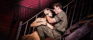 "Emily Bautisa (Kim) and Anthony Festa (Chris) star in the national tour of ""Miss Saigon."" (Photo by Matthew Murphy)"