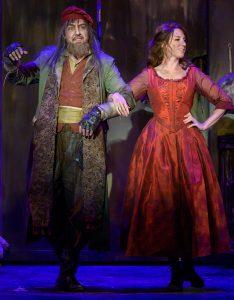 "Fagin (Gary Rucker) dances with Nancy (Kelly Fouchi) in ""Oliver!"" (Photo by John Barrois)"