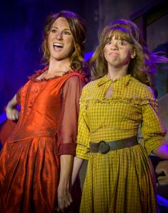 """Mother and daughter Kelly Fouchi (Nancy) and Savannah Fouchi (Bet) in """"Oliver!"""" (Photo by John Barrois)"""