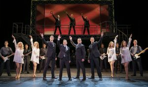 "The finale with the entire cast of ""Jersey Boys."" (Photo by Joan Marcus)"