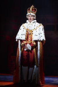 "Jonathan Groff as King George III in ""Hamilton."" (Photo by Joan Marcus)"