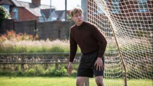 David Kross stars as Bert (Bernd) Trautmann, an unlikely former Nazi, who became a soccer star in Britain. (Courtesy of Memnesha Films)
