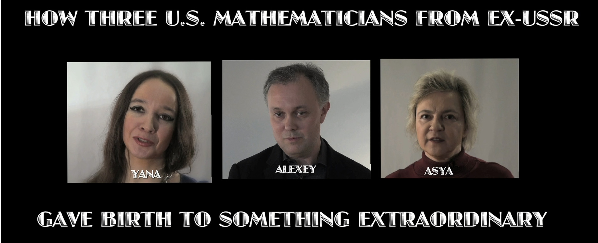Expressions of artistic values proved in 'Married to Math'