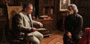 Nikolai Borishovich Jacobi (Igor Polesitsky) interrogating Tchaikovsky (Hershey Felder). (Photo by Marco Badiani and Hershey Felder Presents)