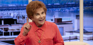 """Tovah Feldshuh as Dr. Ruth K. Westheimer in Mark St. Germaine's """"Becoming Dr. Ruth,"""" now streaming from North Coast Rep. (Photo by Aaron Rumley)"""