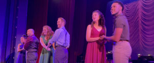"""Cast of """"'Rodgers & Hammerstein's 'A Grand Night for Singing'"""" (l-r) Chase Kamata, Kevin Murphy, Katie Howe , John Michael Haas, Rachel Looney and Eric Shawn. (Photo by Michael McKelvey)"""