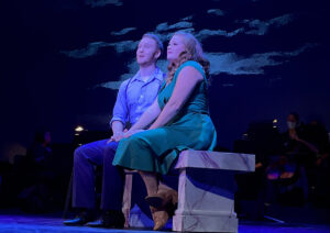 """John Michael Haas, left, and Katie Howe perform """"Surrey with the Fringe"""" from """"Oklahoma."""" (Photo by Michael McKelvey)"""