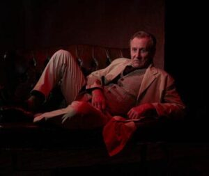 """Daniel Gerroll muses as """"Dr. Glas,"""" now streaming through NCRT. (Cinematography by Aaron Rumley)"""