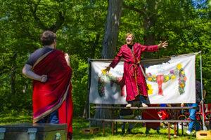 Jackson Hoemann, left, nd Michael Nicholas. (Photo by Summit Players Theatre/A.J. Magoon)