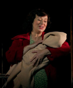 """Angela McCourt (Jacinta Whyte) plays a loving mother in """"Angela's Ashes: The Musical."""""""