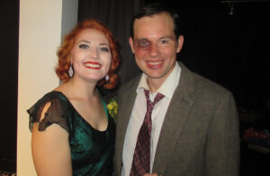 Samantha V. Rohr with co-star Sean Malley after a recent performance. (Photo by Alan Smason)